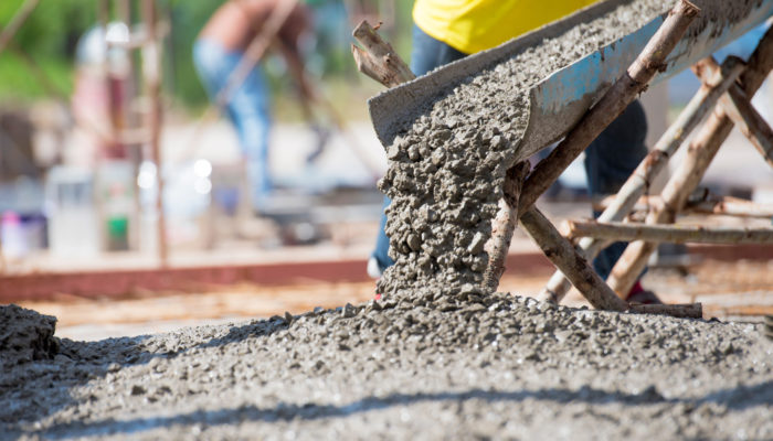 Selective focus of concrete pouring during commercial concreting floors of building